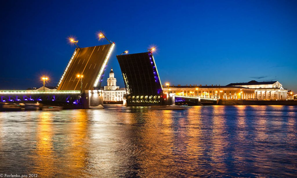 white nights bridges Petersburg