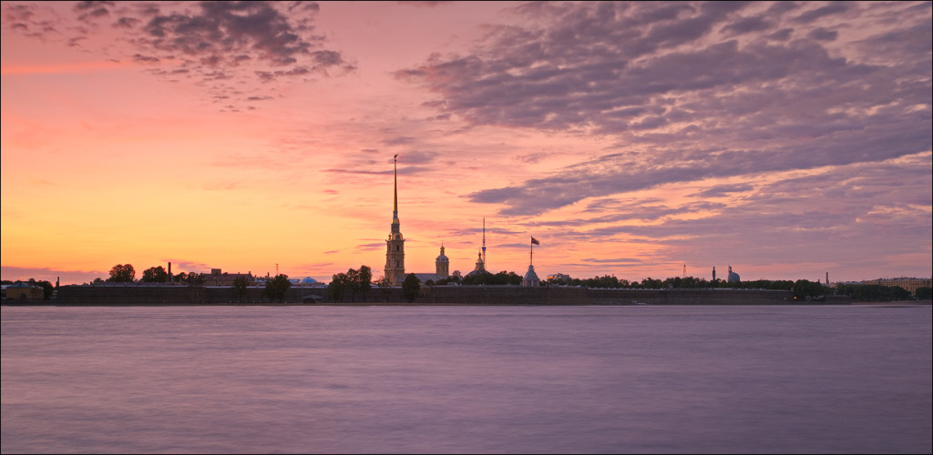 white nights st petersburg Neva river