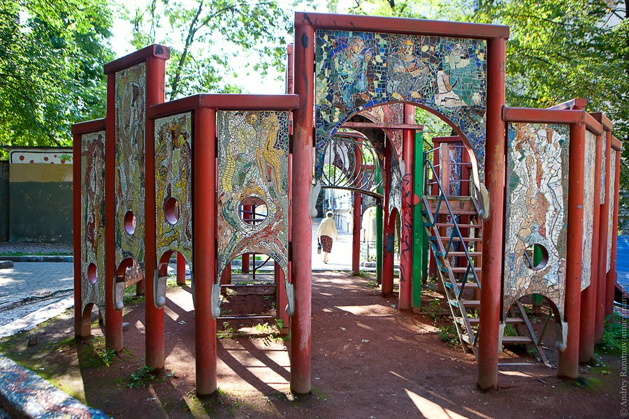 outdoor mosaic sculptures