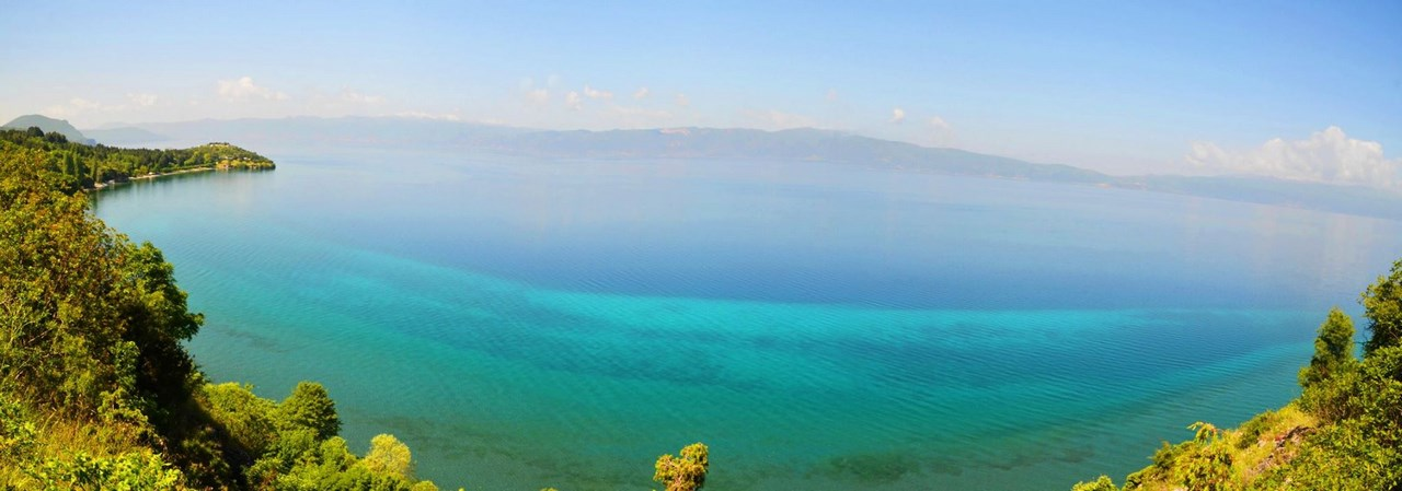 Ohrid lake Panoramic view