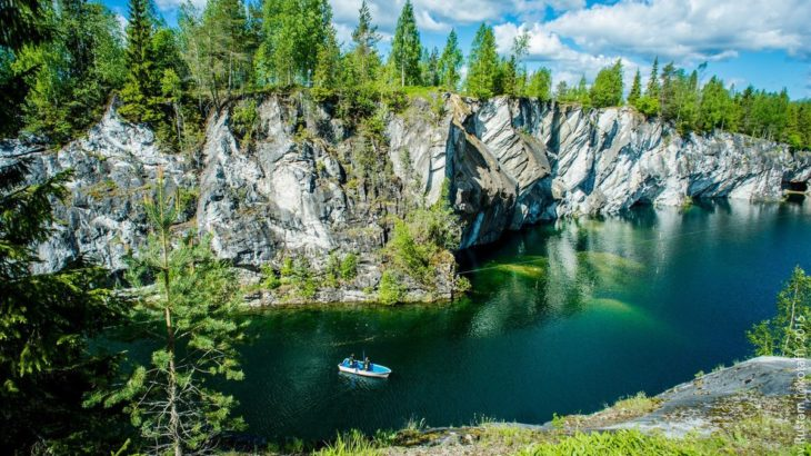 Ruskeala marble canyon mountains Russia