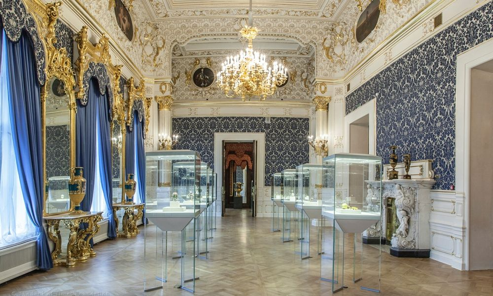 Faberge eggs museum St Petersburg Russia