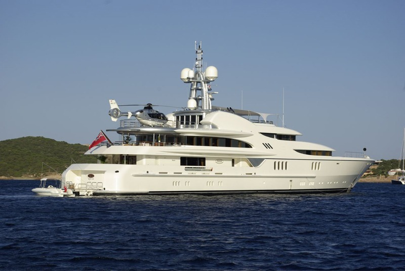 Russian oligarch Dmitriy Rybolovlev yacht called Anna