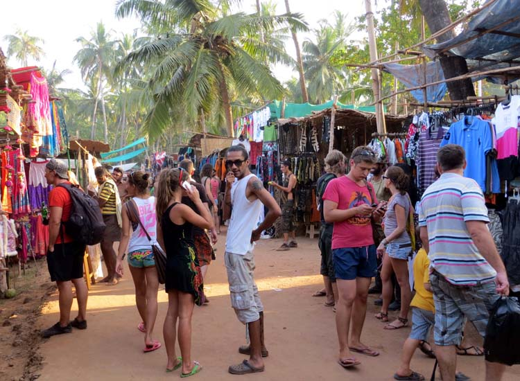 Anjuna Beach Flea Market Goa India